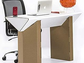 Cardboard Computer Desk for Home OfficeAaa 47AaA Writing laptop Table made of Recyclable Water Resistant Cardboard for Bedroom and Small Spaces Aaa Eco friendly Modern Study Tables   Sturdy and long lasting