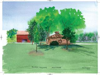Milk House  Watercolour 18 5 x 16 5 Kim Hughson