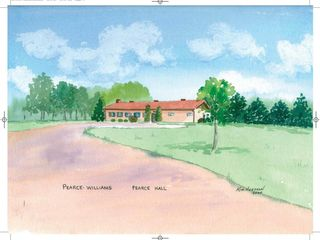 Pearce Hall  Watercolour 18 5 x16 5 Kim Hughson