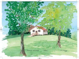 Cabin  Watercolour   18 5 x 16 5 Kim Hughson