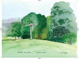 Vesper Point  Watercolour 18 5 x 16 5 Kim Hughson
