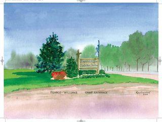 Camp Entrance Watercolour 18 5 x 16 5 Kim Hughson