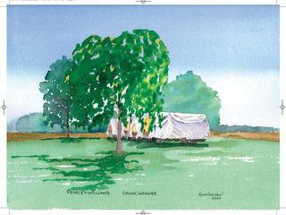 Chuck Wagons Watercolour 18 5 x 16 5 Kim Hughson