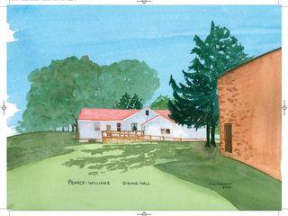 Dining Hall Watercolour 18 5 x 16 5 Kim Hughson