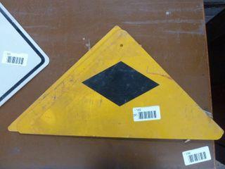 2 aluminum railway signs