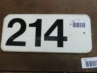 3 double sided aluminum number signs