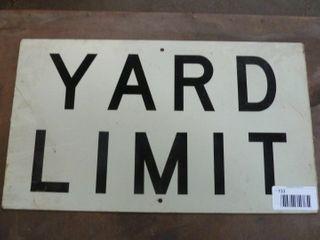 yard limit aluminum reflective sign