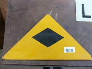 3 aluminum railway signs