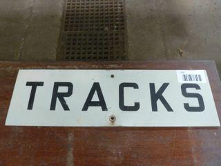 single sided aluminum tracks sign