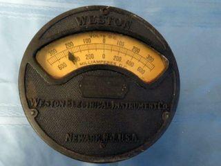 Weston bolt voltage gauge