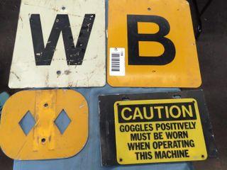 5 railroad indicator signs