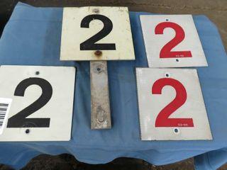 4 aluminum railraod indicator signs