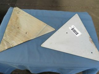 2 NOS black triangle signs