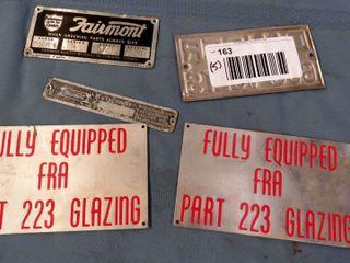 5 aluminum sign badges