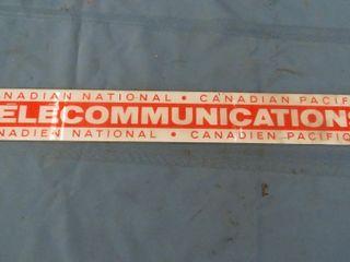 plexiglass CN telecommunications signs