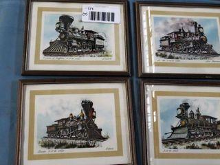 7 railroad train prints   images