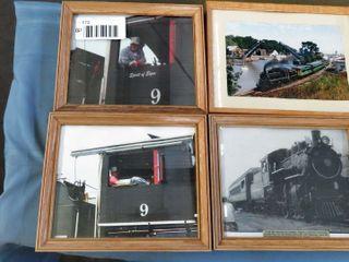 7 framed train images