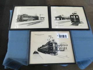 3 l PS railway train prints