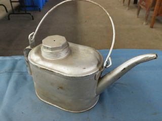2 metal kerosene containers with spout