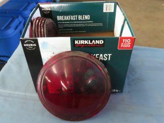 6 red glass railway lenses