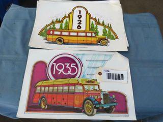 9 passenger car mechanical parlour car prints
