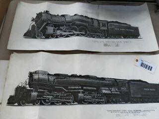 5 railroad prints