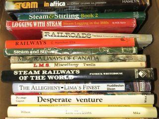 box of railroad books