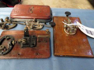 3 telegraph keys