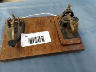 telegraph key   antique telegraph relay sounder