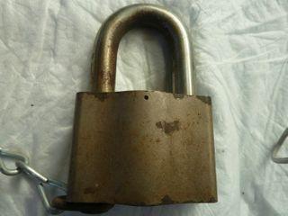 large lock marked Sargent   Greenleaf