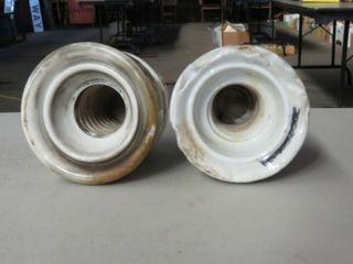 2 x ceramic CPR insulators