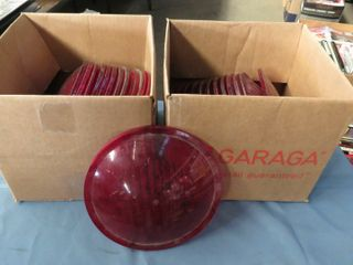 24 red plastic railway lenses