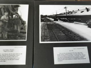 2 railway images mounted on board