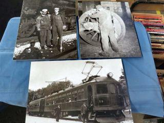 3 railway images mounted on board