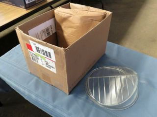 2 clear glass railway lenses