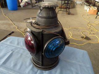 Handlan railroad switch lantern marked Wabash