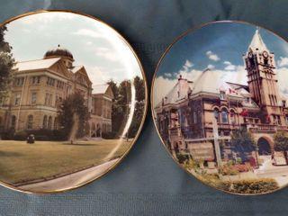 4 decorative railway plates