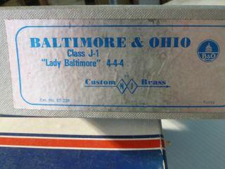 Baltimore   Ohio Class J 1 brass model train