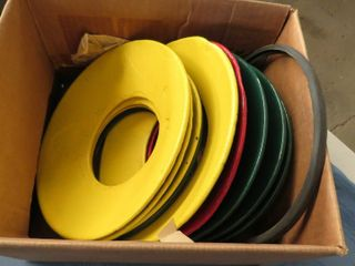 10 metal switch light flanges