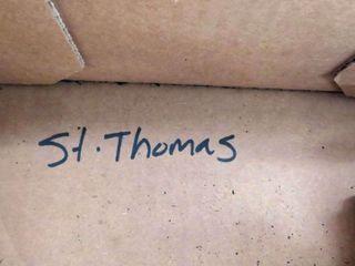 box of local St  Thomas railroad blueprints