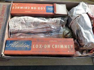 box of glass chimneys