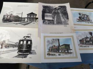 box of railway prints