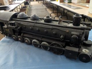 large scale decorative handmade locomotive
