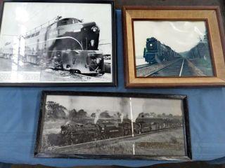 12 framed railroad images