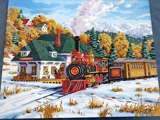 2 original railroad paintings