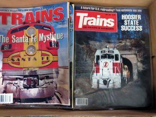 box of  Trains  magazines