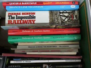 box of hardcover railway books