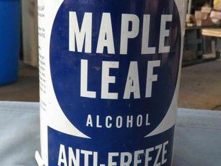 Maple leaf anti freeze quart can