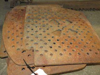 8 cast floor grates