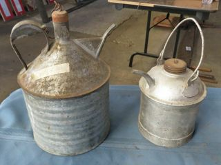 2 kerosene containers with spout